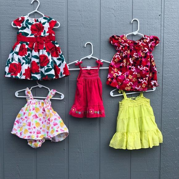 Girls' Clothing (newborn-5t) Clothing, Shoes & Accessories Girls 3-6 Months Baby Gap Denim Jumper Dress Embroidered Flowers Summer